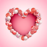 Valentine Day Lollipop Lizenzfreies Stockfoto