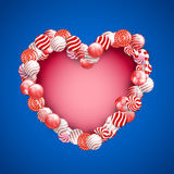 Valentine Day Lollipop Stockbild