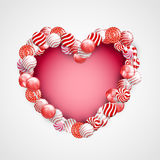 Valentine Day Lollipop Photos libres de droits
