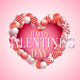 Valentine Day Lollipop Royalty Free Stock Photography