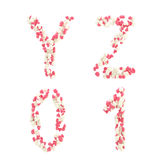 Valentine day love alphabet made of hearts Stock Photos