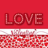 Valentine Day Love beaucoup d'image de vecteur de coeur Image libre de droits