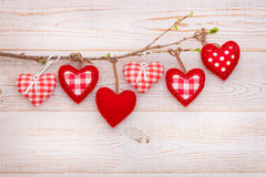 Valentine day love beautiful. Heart hanging on Royalty Free Stock Photography