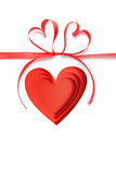 Valentine day love beautiful. Paper heart. Ideal for your Valentine's day design Stock Photography