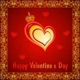 Valentine Day love card stock photo