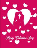 Valentine day love couple gift Stock Image