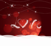Valentine day with love heart light Background Stock Photography