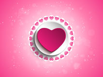 Valentine Day Love Heart Pink Background vector illustration