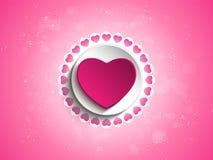 Valentine Day Love Heart Pink bakgrund Royaltyfri Bild