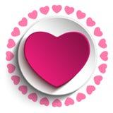 Valentine Day Love Heart Pink-Hintergrund Lizenzfreie Stockfotos