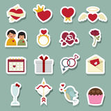 Valentine day love icons Stock Image
