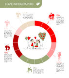 Valentine day. Love infographic for your design Royalty Free Stock Photo