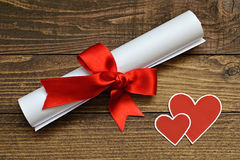 Valentine Day love letter Royalty Free Stock Photography
