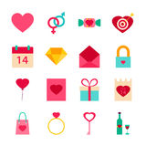 Valentine Day Love Objects Imagenes de archivo