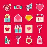 Valentine Day Love Stickers Fotografia Stock