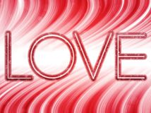 Valentine Day Love Word Background Stock Photography