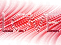 Valentine Day Love Word Background Stock Photos