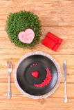 Valentine day menu Stock Images