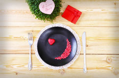 Valentine day menu Royalty Free Stock Photography