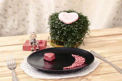 Valentine day menu Stock Image