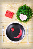 Valentine day menu Stock Photography