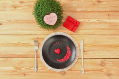 Valentine day menu Royalty Free Stock Photo