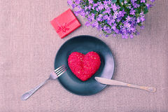 Valentine day menu Royalty Free Stock Photos