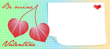Valentine day message Royalty Free Stock Photography