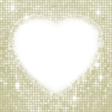 Valentine day mosaic heart card. EPS 8 Royalty Free Stock Photography