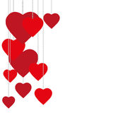 Valentine day nice love heart greeting Stock Images