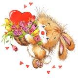 Valentine Day och gulligt djur Arkivfoton