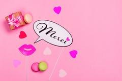 Valentine Day- oder Geburtstagsgrußkarte stockbilder