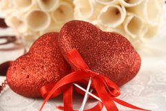 Valentine day ornaments Stock Image