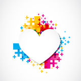 Valentine day page heart positive concept Stock Images