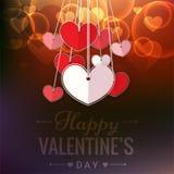 Valentine Day Paper Heart Vector bild Royaltyfria Foton
