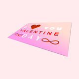Valentine day on paper mock up background Royalty Free Stock Images