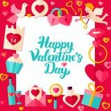 Valentine Day Paper Template heureux Images libres de droits