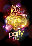 Valentine day party design with hearts. Royalty Free Stock Photography