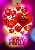 Valentine day party design with hearts. Stock Photos