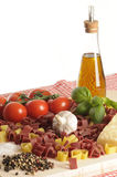 Valentine day pasta ingredients Royalty Free Stock Photography