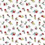 Valentine Day people background. Seamless pattern with shopping Royalty Free Stock Photography