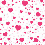 Valentine Day and Pink Heart isolated on white background. Vector Valentine Day Background. Stock Images