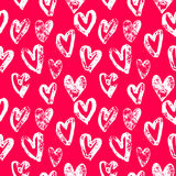 Valentine Day pink hearts pattern vector background Stock Photo