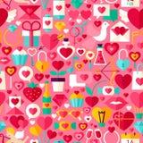 Valentine Day Pink Seamless Pattern Imagen de archivo