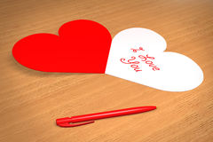 Valentine day postcard Royalty Free Stock Photos