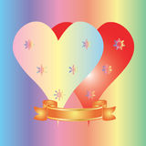 Valentine day postcard Royalty Free Stock Image