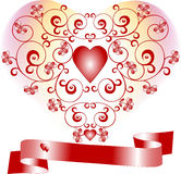 Valentine Day. Postcard, Background . Royalty Free Stock Images