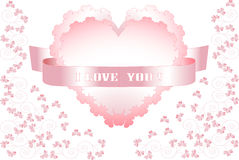 Valentine day.    Postcard, Background . Stock Images