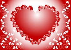 Valentine day.    Postcard, Background .Wallpaper Stock Image