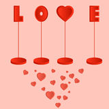 Valentine day postcard Royalty Free Stock Images